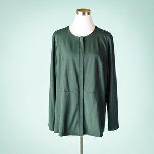 J Jill XL Black Wearever Zip Front Cardigan